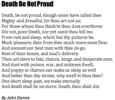 death-be-not-proud