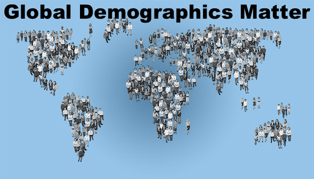 image of global demographics map