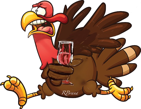 thanksgiving turkey and wine by RBrand graphics